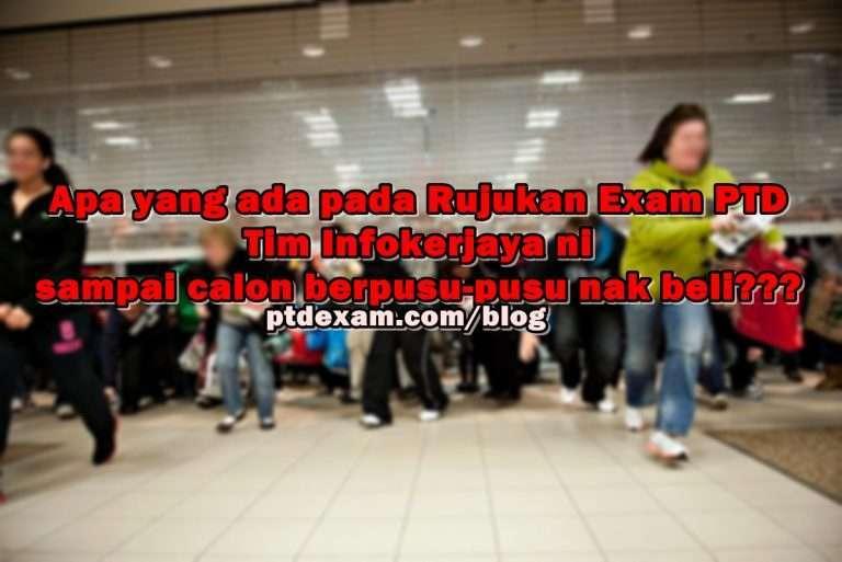 Rujukan Exam Online PTD M41 3 November 2017