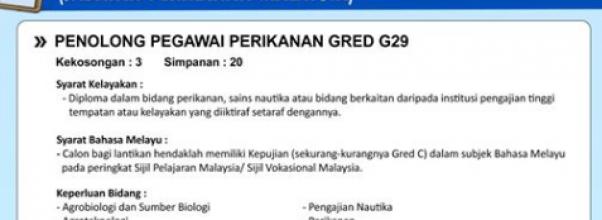 penolong pegawai perikanan g29